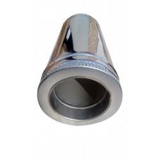 Труба ф130/ф200, 50 см, нерж/нерж, 0,8 мм