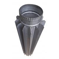 Труба-радиатор ф130 мм, нерж 0,8 мм, L-1 м