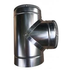Тройник 87 ф300/ф360 мм, нерж/оцинк, 0,6 мм.