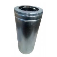 Труба ф180/ф250, 50 см, нерж/оцинк, 1,0 мм