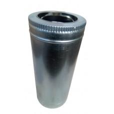 Труба ф180/ф250 мм, нерж/оцинк, 0,6 мм, L-1м.