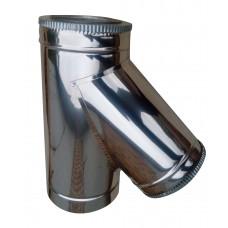Тройник 45 ф160/ф220 мм, нерж/нерж, 0,8 мм.