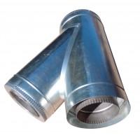 Тройник 45 ф120/ф180 мм, нерж/оцинк, 0,8 мм.