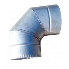 Отвод 90° ф100 мм, нерж, 0,8 мм (одностенный) (колено)