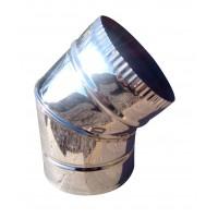 Отвод 45° ф160 мм, нерж, 0,6 мм (одностенный) (колено)