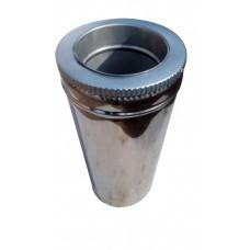 Труба ф150/ф220 мм, нерж/нерж, 1,0 мм, L-1 м.