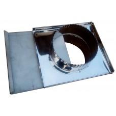 Шибер ф120 мм, нерж 0,6 мм