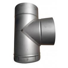 Тройник 87° ф150 мм, нерж, 1,0 мм (одностенный)